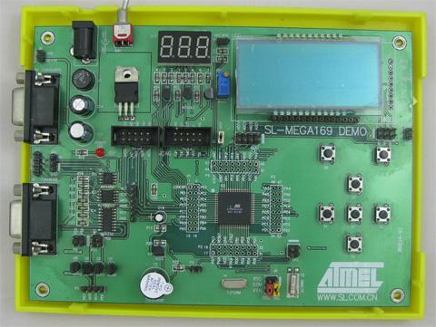 sl-mega169p液晶演示开发板